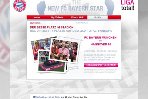 FC Bayern App Gewinnspiel Ansicht
