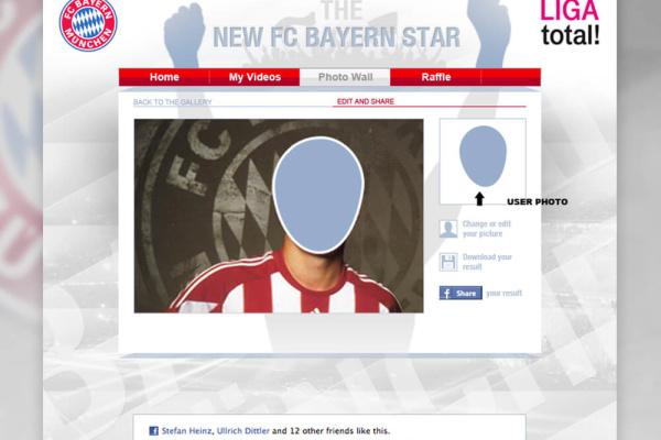 FC Bayern App Foto hochladen Facebook
