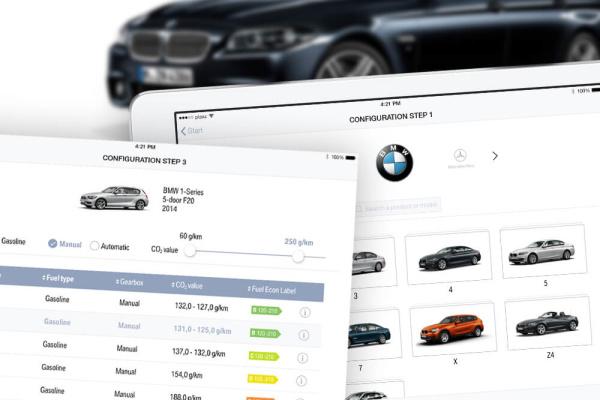 Konfiguration für BMW CO2 Steuerberechnung Projekt der plazz AG