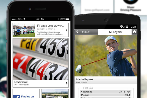 BMW Golf App der plazz AG