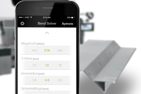 Bystronic Bend Solver App der plazz AG