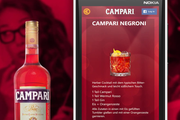 Rezepte Campari App Projekt der plazz AG