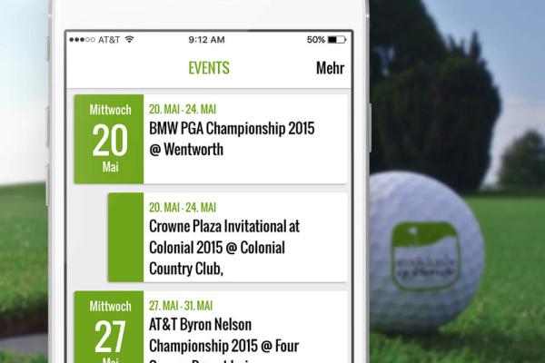 App Exklusiv Golfen Projekt der plazz AG