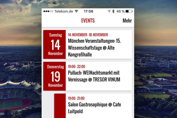Eventkalender Exklusiv München App der plazz AG