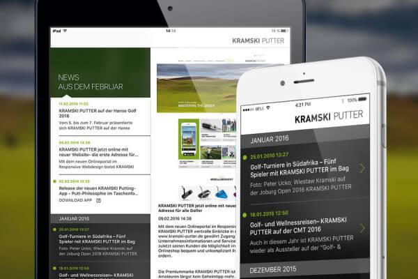 Neuigkeiten aus dem Hause KRAMSKI in der Putt-App von plazz