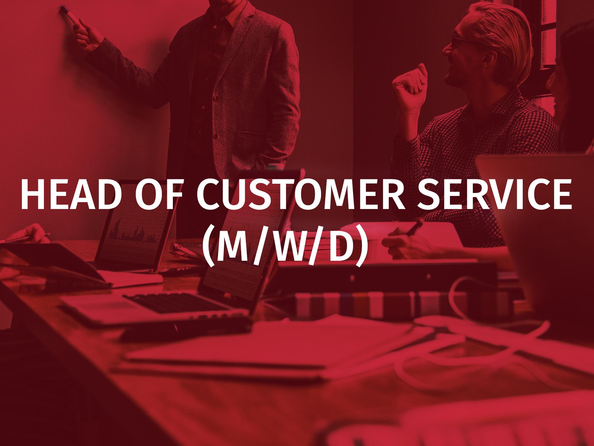 Head of Customer Service