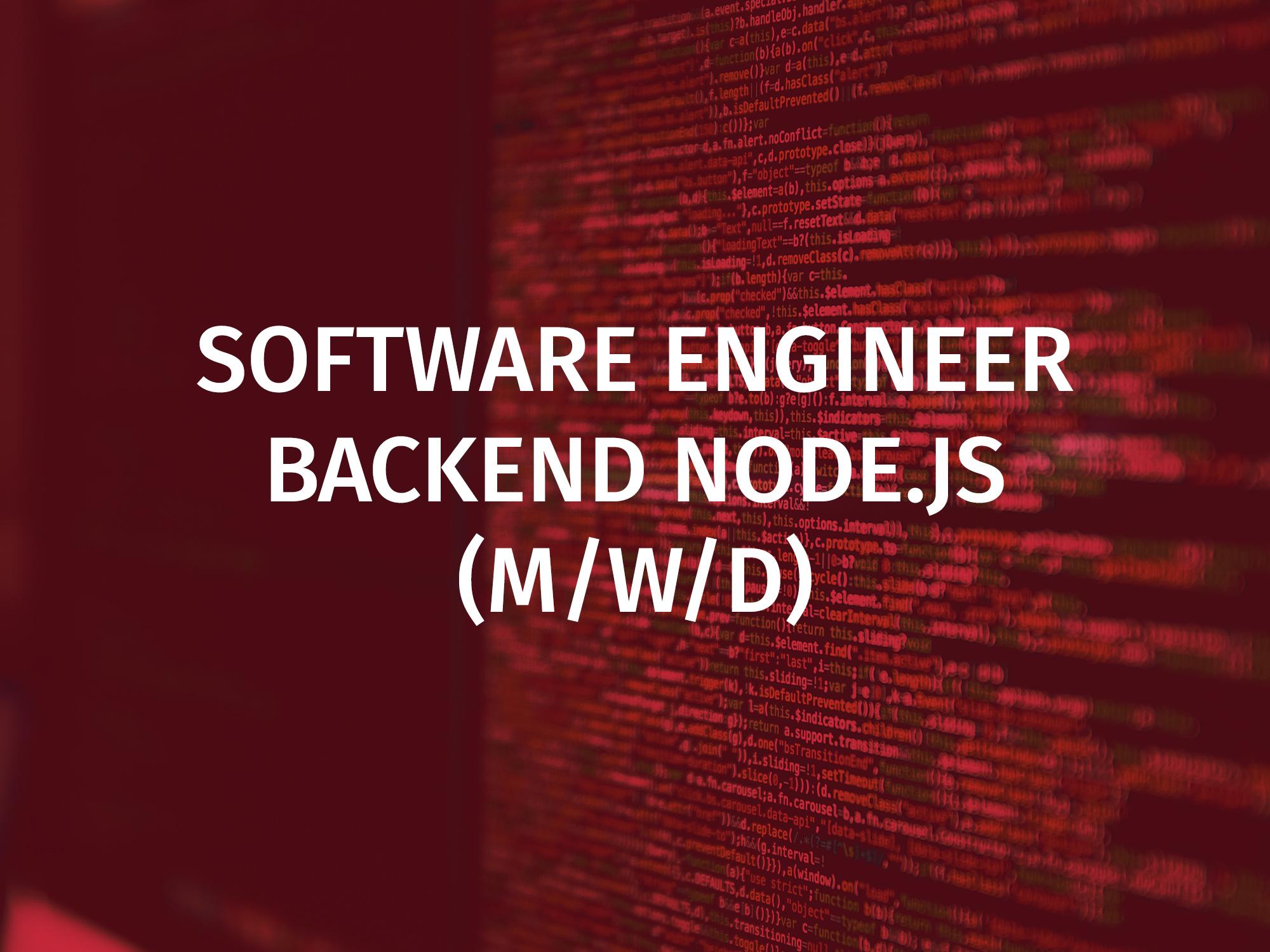 developer backend nodejs